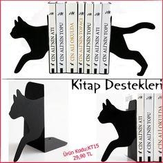 KT 15 koşan kedi kitap tutucu ins