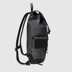 b3770e57b004f0 Gucci Soft GG Supreme backpack Detail 4 Supreme Backpack, Gucci, Canvas,  Fabric,