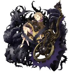 View an image titled 'Briar Rose, Crusher Job Art' in our SINoALICE art gallery featuring official character designs, concept art, and promo pictures. Female Character Design, Character Design References, Character Design Inspiration, Character Concept, Character Art, Concept Art, Character Illustration, Illustration Art, Demon Drawings