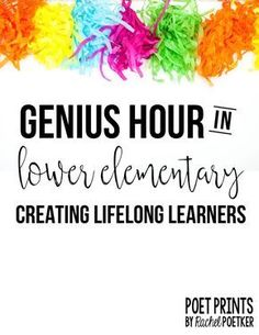 Last year, I did my very first Genius Hour in my third grade classroom. For those who have never heard of Genius Hour, it is a student-dire...