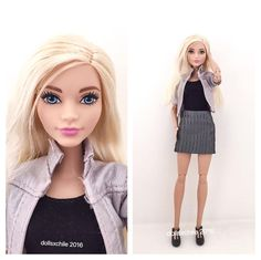 Barbie® Fashionistas™ Doll 22 Chambray Chic - Curvy en made to move body #barbie…