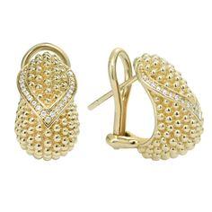 Diamond | Gold Beaded Earrings | Caviar Gold | LAGOS Jewelry