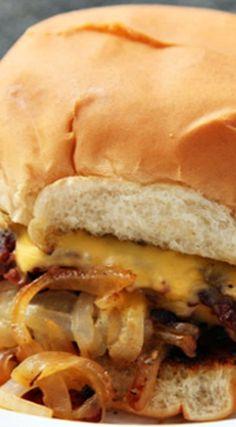 Oklahoma-style Onion Burgers would be perfect on Martin's Potato Rolls!