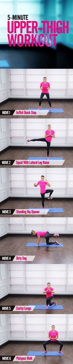 They are tricky to treat. You cannot spot-reduce but along with a healthy eating plan and plenty of cardio these moves can help tone the area. We keep your heart rate up in the quick workout so you burn maximum calories too. Press play and ge Fitness Motivation, Fitness Diet, Health Fitness, Workout Fitness, Fitness Legs, Sweat Workout, Pilates Workout, Tabata, Step Sport
