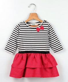Another great find on #zulily! Red Stripe Dress - Infant & Toddler #zulilyfinds