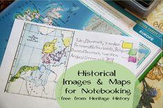 heritag histori, maps, homeschool, histor map, geography notebook, histor imag