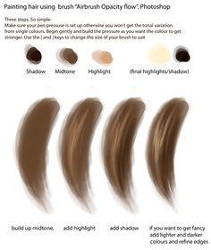 Basic Hair Painting Tutorial by ~pogopuggie on deviantART