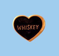 Whiskey Heart Pin