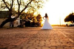 Bride At Sunset Evening