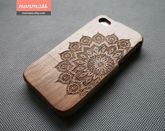 Wood iPhone 4S case  iPhone 4 case  Mandala iPhone 4S by nonmass, $24.00