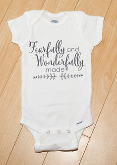 Fearfully and Wonderfully made Onesie Psalm by pinkblossomdesignco