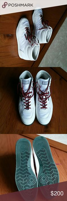 910d05a4f45 Mens Gucci Sneakers Authentic White Gucci Sneakers   worn twice..great  condition Gucci Shoes