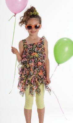 Kate Mack ``Feelin' Groovy`` Super Sweet Tunic and Legging Two Piece SetSizes 5 - 8