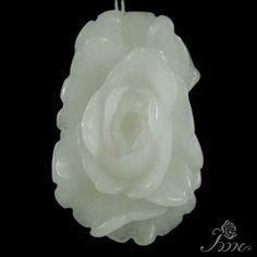Hand carved Pendant Flower Pendant Peony Pendant Clothes Pendant F10169 #PDN #Pendant