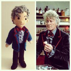 Third doctor! Now with nifty jacket trim ;) #doctorwho #amigurumi #crochet #jonpertwee #dandy by CraftyisCool1, via Flickr