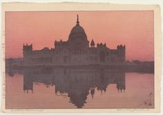 Victoria Memorial, from the series, India and Southeast Asia, by Yoshida Hiroshi, 1931.(Freer Gallery of Art and Arthur M Sackler Gallery)