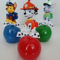 Paw Patrol Candy Apples #pawpatrol #pawpatrolparty #candyapples #birthday #partyideas #partyfavors #houston #pearland #pearlandsweettooth #thanks4yoursupport