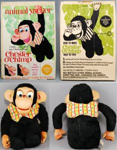 Chester  O'Chimp.  He was novel because his mouth moved when talked.
