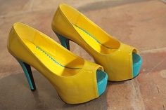 Pretty & Fashionable Fish Mouth High-heeled Shoes----Yellow