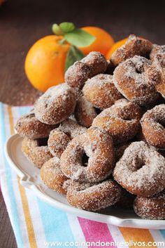 Cocinando entre Olivos: Rosquillos de naranja. Receta paso a paso.