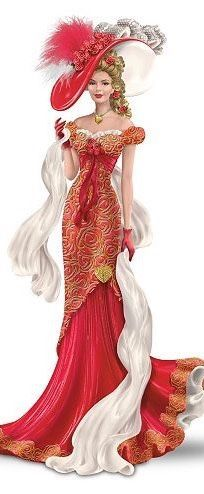 """""""Barbie"""" woman in a spectacular clothes. We want these dresses and hats back.:"""