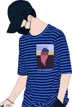 Pegatinas «BTS Jimin Fashion Lineart #1» de naovevo   Redbubble