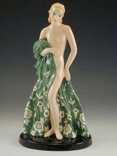 Goldscheider Art Deco Ceramic Figurine.