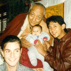Dilgo Khyentse R., Dzigar Kongtrul R., Elizabeth Mattis Namgyel, & their infant son Dungse Jampal Norbu