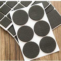 Round Multifunction Black Self Adhesive Furniture Leg Table Sofa Feet Floor Non-slip Mat Sticky Pad Protector 1Set=48pcs