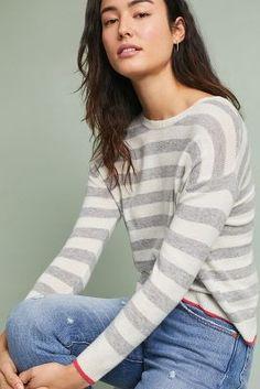 Raelynne Striped Pullover   Anthropologie