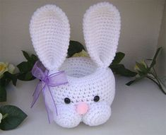 15 New Easter Bunny Gift Basket Ideas 2014 14 15 New Easter Bunny Gift Basket Id . 15 New Easter Bunny Gift Basket Ideas 2014 14 15 New Easter Bunny Gift Basket Ideas 2014 Easter Crochet Patterns, Crochet Bunny, Crochet Patterns For Beginners, Hand Crochet, Boyfriend Crafts, Valentines Diy, Easter Baskets, Easter Crafts, Easter Bunny