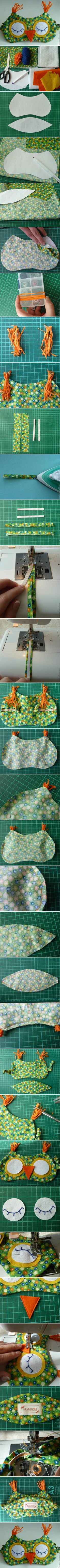 Sewing Project:  DIY Owl Sleeping Mask