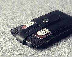 Charbonite Wool Felt and Leather iPhone 5 Case