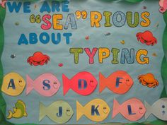 Encourage your students to learn how to type correctly!  Computer lab bulletin board