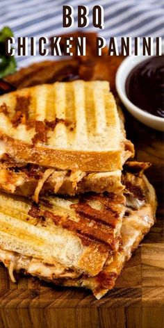 This BBQ Chicken Panini is filling and so delicious. The combination of chicken, cheese, bacon, and BBQ sauce is a winner. Give it a try and let me know how you like it! Easy Bbq Chicken, Cooking Chicken To Shred, Sweet N Sour Chicken, How To Cook Chicken, Chicken Panini, Bbq Chicken Sandwich, Grilled Sandwich, Panini Recipes, Meal Recipes