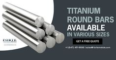 Get our titanium round bars available in various sizes, grades, and finishes! Get your free quote at www.fortemetals.com or call us at +1 (847) 451-8888. Round Bar, Free Quotes, You Got This, It Is Finished, Signs, Products, Shop Signs, Its Ok, Gadget