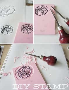 Try Creating your Own Stamps for your Scrapbook