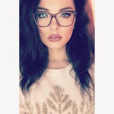 Check out super awesome products at Shire Fire! :-) OFF or more Sunglasses SALE! Cute Glasses, New Glasses, Girls With Glasses, Glasses Frames, Makeup For Glasses, Oprah Glasses, Fashion Eye Glasses, Wearing Glasses, Womens Glasses