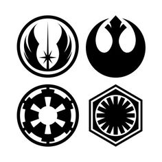 Star Wars Symbols Vinyl Decals / Laptop Decals / Car Sticker / Phone Sticker starting at $2.50