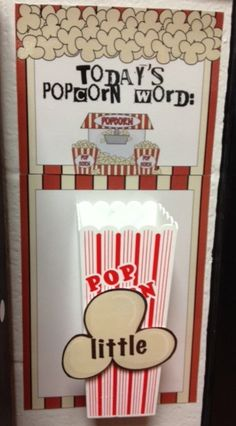 """Sight Words=Popcorn words because they should """"pop"""" into your head! Cute! Free download"""