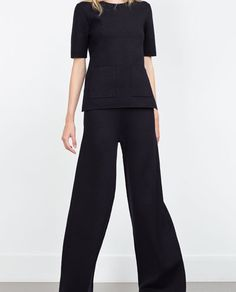 Image 2 of KNITTED TROUSERS from Zara