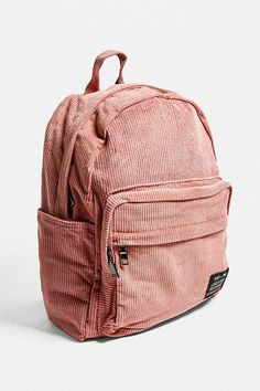 Shop UO Core Corduroy Backpack at Urban Outfitters today. Backpack Outfit, Backpack Purse, Fashion Backpack, Hippie Backpack, Rucksack Backpack, Cute School Bags, Cute School Supplies, Vintage Backpacks, Stylish Backpacks