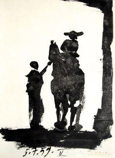 """Pablo Picasso, signed Lithograph """"Toros Y Toreros"""", 1961"""