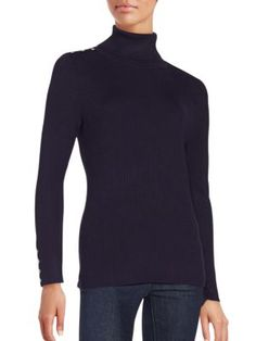 59625a31524 CALVIN KLEIN Ribbed Long Sleeve Turtleneck Sweater.  calvinklein  cloth   sweater