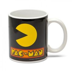 Official Pac Man Pacman Ghost Coffee Cup Mug on Yellow Octopus #giftsformen #fathersday #fathersdaygiftideas #gifts #pacman #mug
