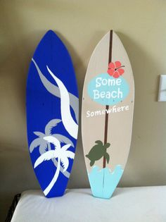 Tabla de surf por katesSIGNdesigns en Etsy Luau Theme, Hawaiian Theme, Luau Party, Fun Crafts, Diy And Crafts, Moana Theme, Surfboard Art, Ocean Themes, Party Time