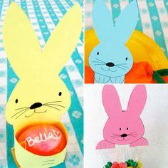 Easter egg holder- bunny free printable