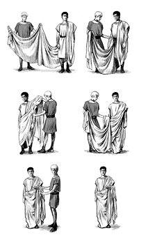 Roman Toga, Roman Dress, Ancient Rome, Ancient Greece, Ancient History, Greek Fashion, Roman Fashion, Historical Costume, Historical Clothing