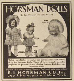 vintage+doll+ads | Vintage Horsman Dolls