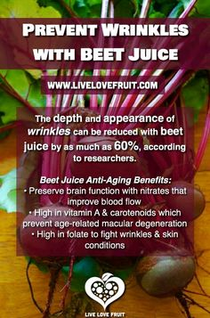 See! I can't express enough, about the benefits of Beets/Beet Juice.